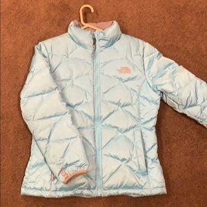 North Face Bubble Jacket (Light Blue)